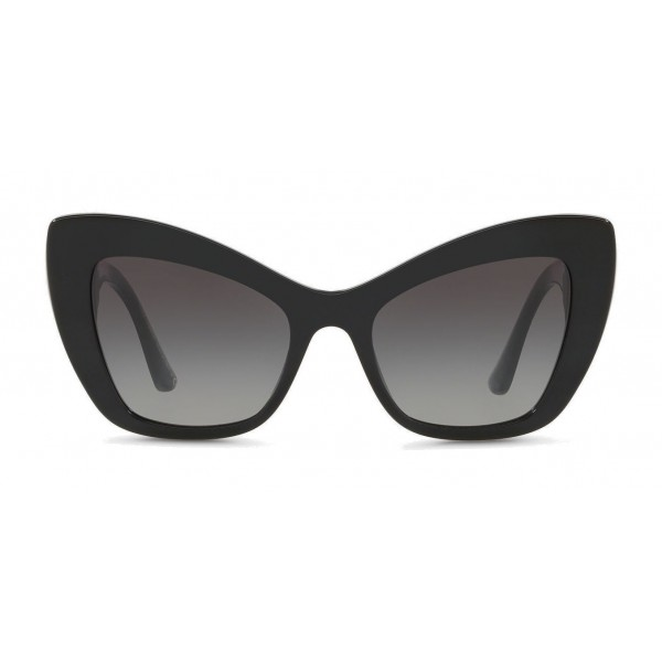 "Dolce & Gabbana - Cat-Eye Acetate Sunglasses with ""Sacred Heart"" Decoration - Black - Dolce & Gabbana Eyewear"
