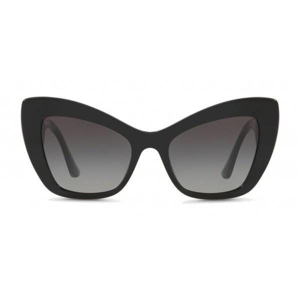 "Dolce & Gabbana - Occhiale da Sole Cat-Eye in Acetato con Decoro ""Cuore Sacro"" - Nero - Dolce & Gabbana Eyewear"