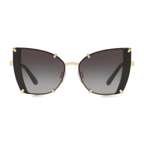 Dolce & Gabbana - Butterfly Sunglasses with Faceted Details - Gold & Black - Dolce & Gabbana Eyewear