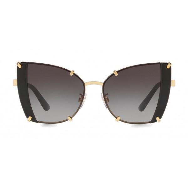 Dolce & Gabbana - Occhiale da Sole Butterfly con Dettagli Sfaccettati - Oro e Nero - Dolce & Gabbana Eyewear