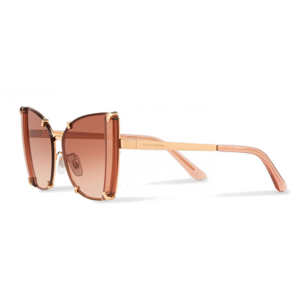 74cc3d35fa5 ... Dolce   Gabbana - Butterfly Sunglasses with Faceted Details - Rose Gold  - Dolce   Gabbana ...