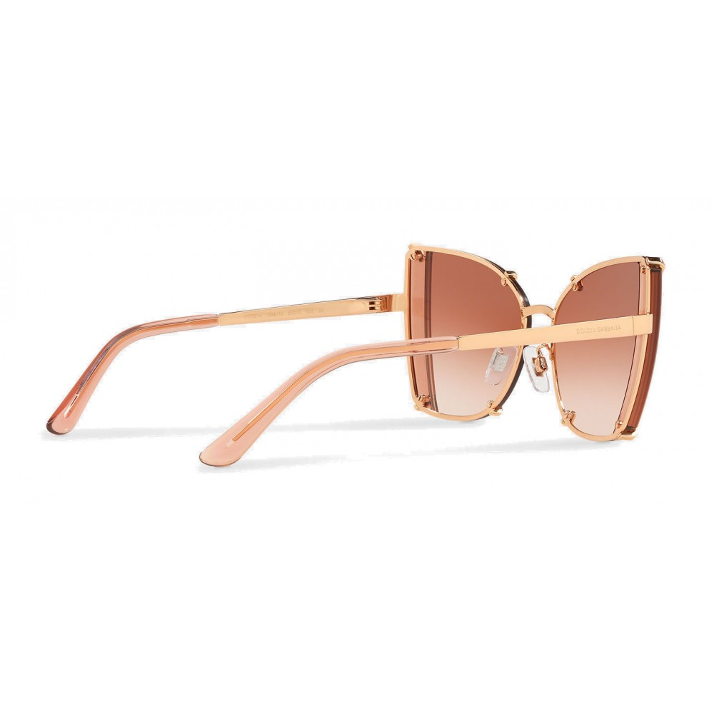 bb049465fdb ... Dolce   Gabbana - Butterfly Sunglasses with Faceted Details - Rose Gold  - Dolce   Gabbana