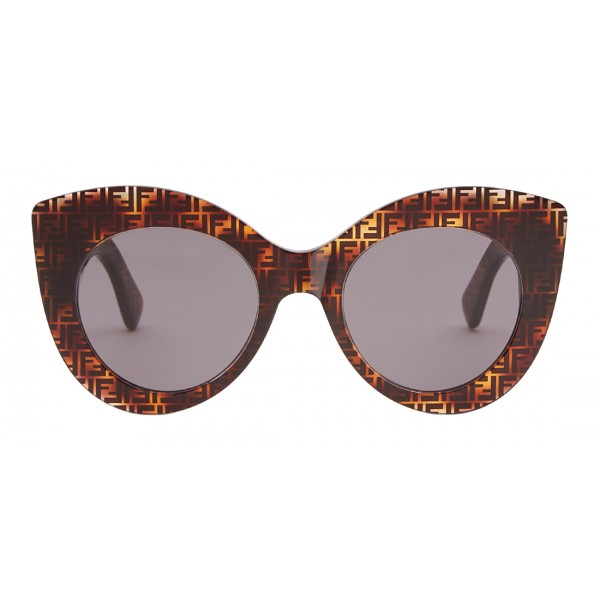 Fendi - F is Fendi - Occhiali da Sole Cat Eye Havana Grigio FF - Occhiali da Sole - Fendi Eyewear