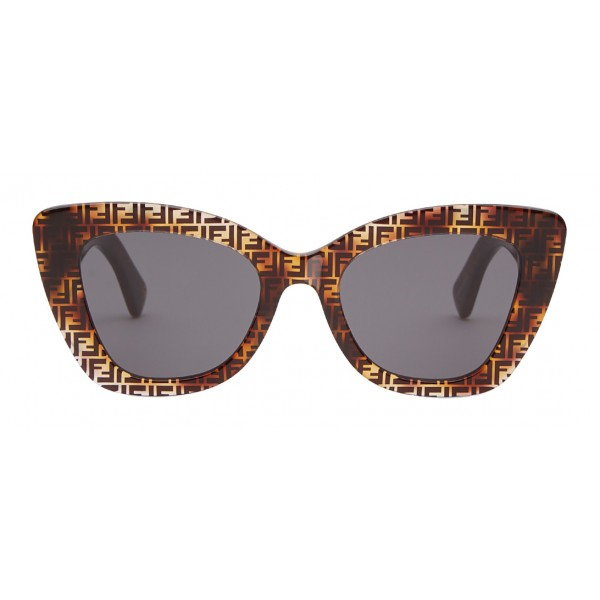 Fendi - F is Fendi - Occhiali da Sole Cat Eye Havana FF - Occhiali da Sole - Fendi Eyewear