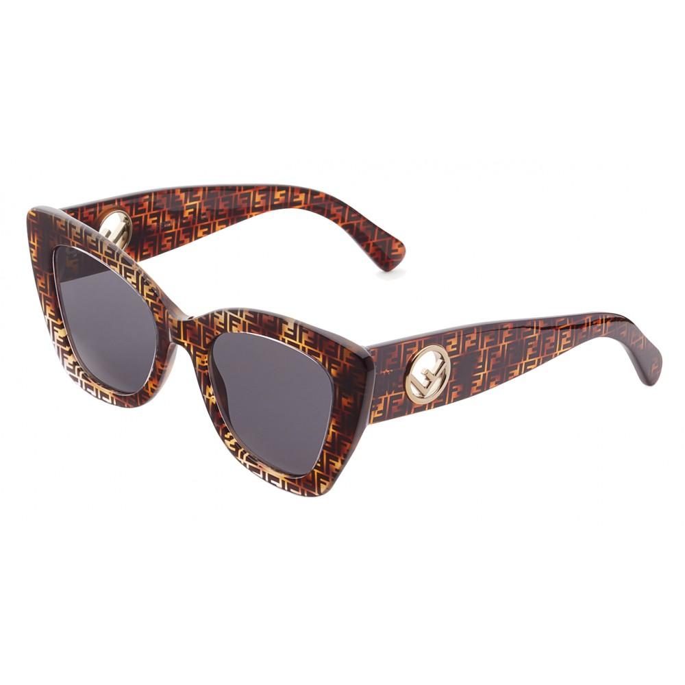 d3979a65f6 ... Fendi - F is Fendi - Havana FF Cat Eye Sunglasses - Sunglasses - Fendi  Eyewear ...
