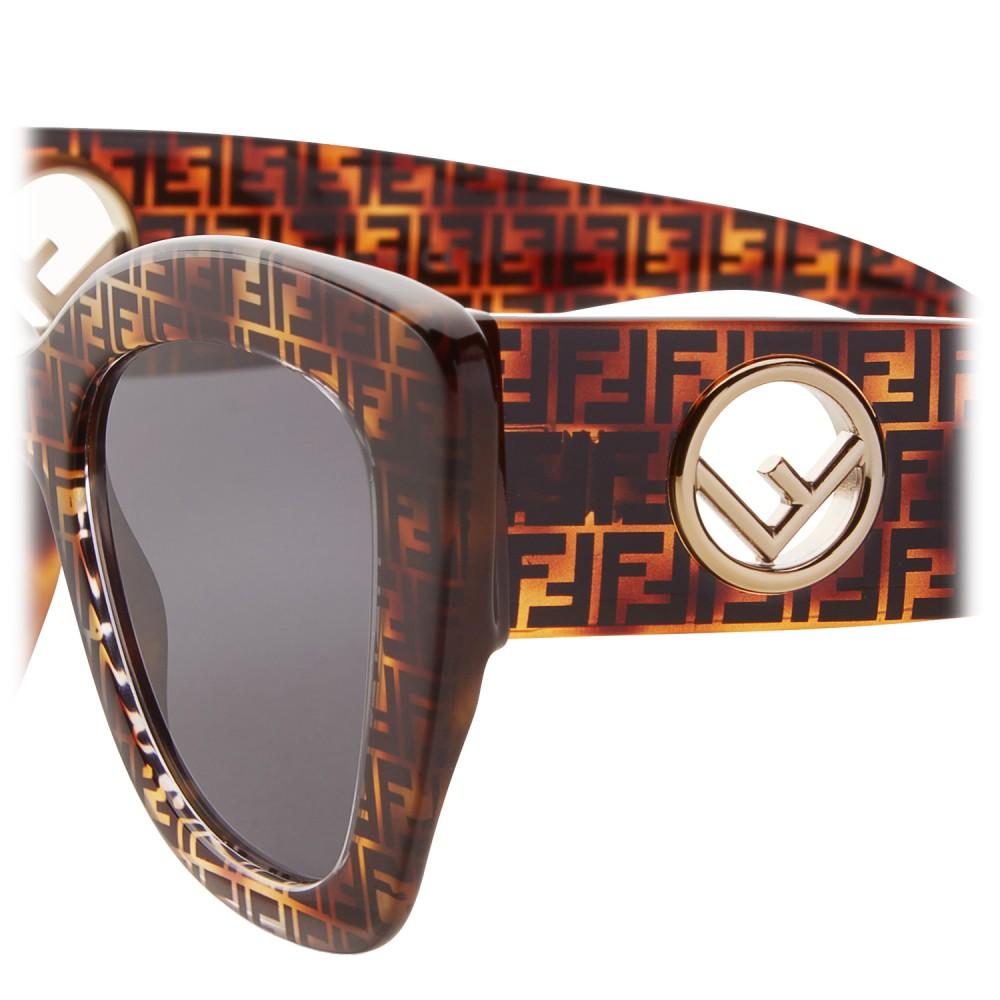 9b04960f0e ... Fendi - F is Fendi - Havana FF Cat Eye Sunglasses - Sunglasses - Fendi  Eyewear