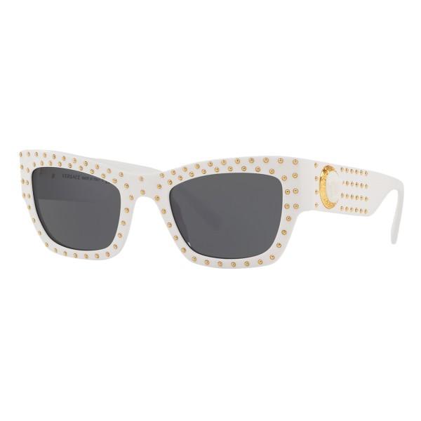 Versace - Occhiale da Sole Medusa Ares Stud - Bianco - Occhiali da Sole - Versace Eyewear