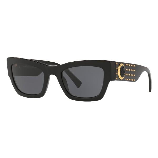 Versace - Occhiale da Sole Medusa Ares Stud - Neri - Occhiali da Sole - Versace Eyewear