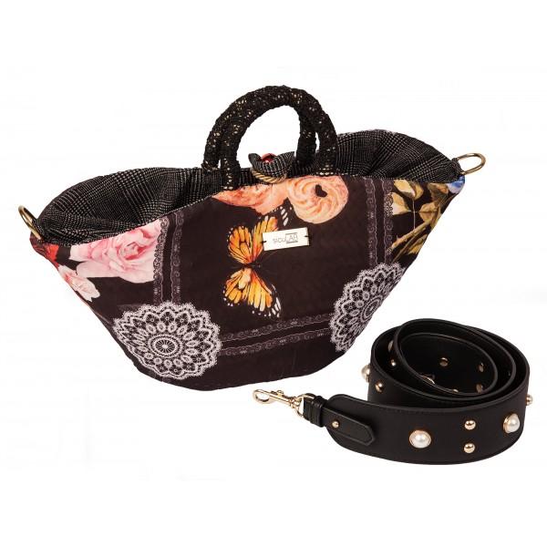 SicuLAB - Coffa Piccanti - Sicilian Artisan Handbag - Sicilian Coffa - Luxury High Quality Handicraft Bag