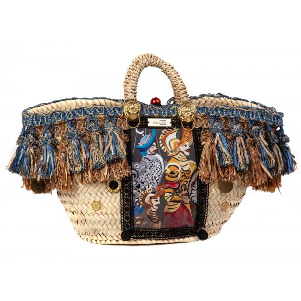 SicuLAB - Coffa Vittoria - Sicilian Artisan Handbag - Sicilian Coffa - Luxury High Quality Handicraft Bag