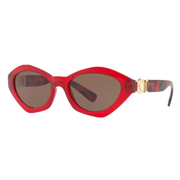 Versace - Occhiale da Sole Versace Hexad Signature - Rossi - Occhiali da Sole - Versace Eyewear