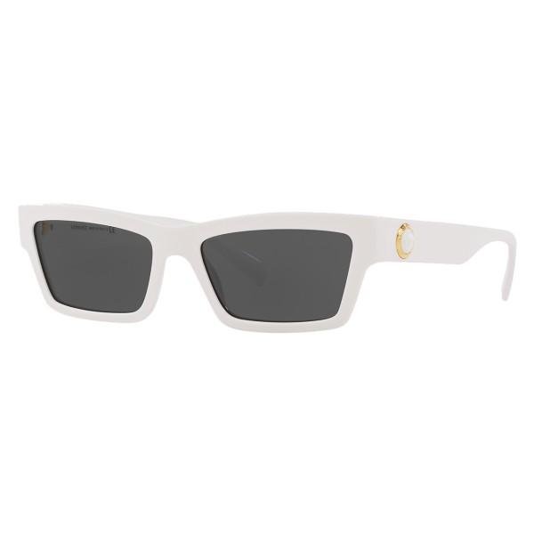 Cat Sunglasses Onul White Eyewear Stud Eye Medusa Ares Versace TOZikuPX