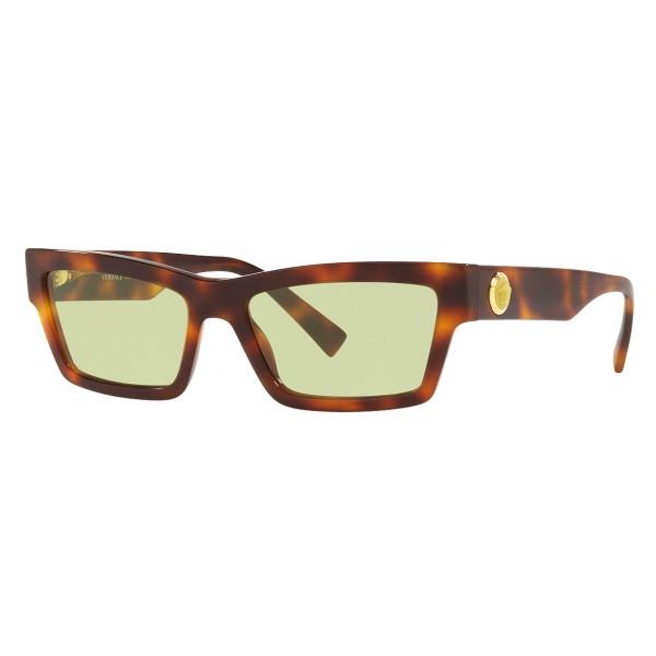 Versace - Occhiale da Sole Cat Eye Medusa Ares Stud - Havana Onul - Occhiali da Sole - Versace Eyewear