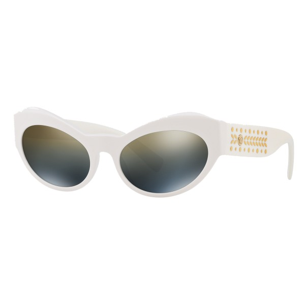 Versace - Occhiale da Sole Cat Eye Medusa Leaves - Bianco Onul - Occhiali da Sole - Versace Eyewear