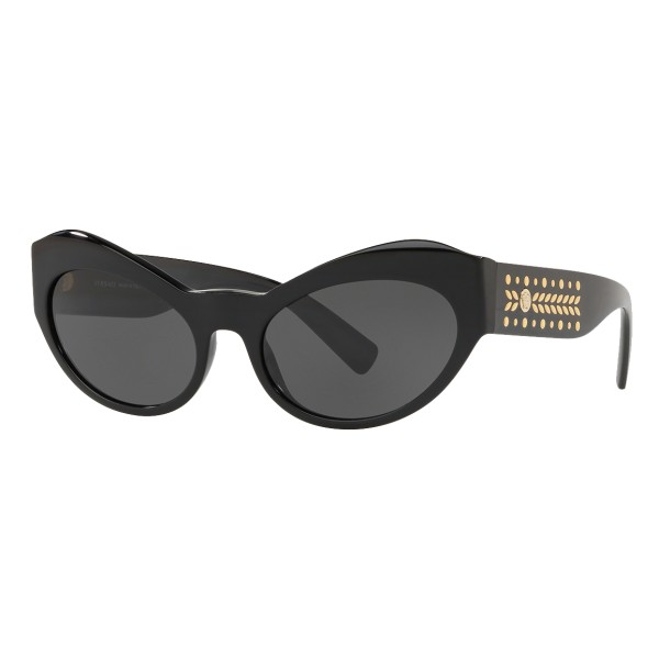 Versace - Occhiale da Sole Cat Eye Medusa Leaves - Nero Onul - Occhiali da Sole - Versace Eyewear