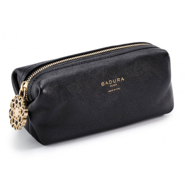 Aleksandra Badura - Small Leather Goods - Multipurpose Pouch in Goatskin - Black - Luxury High Quality