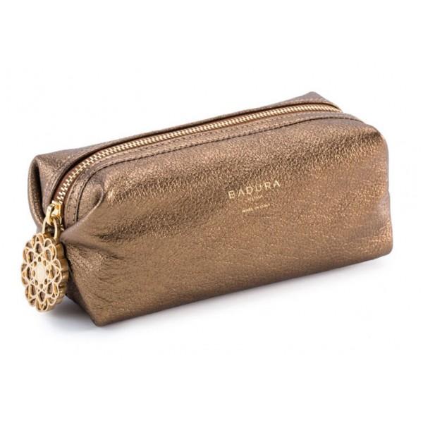 Aleksandra Badura - Small Leather Goods - Multipurpose Pouch in Capra - Oro - Pelle di Alta Qualità Luxury