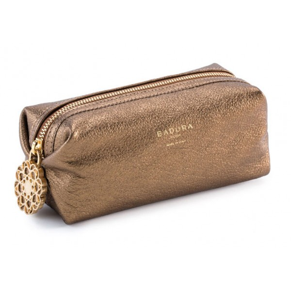 Aleksandra Badura - Small Leather Goods - Multipurpose Pouch in Goatskin - Gold - Luxury High Quality