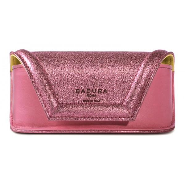 Aleksandra Badura - Small Leather Goods - Sunglasses Case in Calfskin - Pink - Luxury High Quality