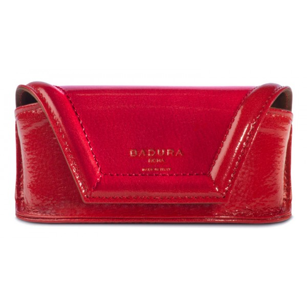Aleksandra Badura - Small Leather Goods - Porta Occhiali in Vitello - Rosso - Pelle di Alta Qualità Luxury