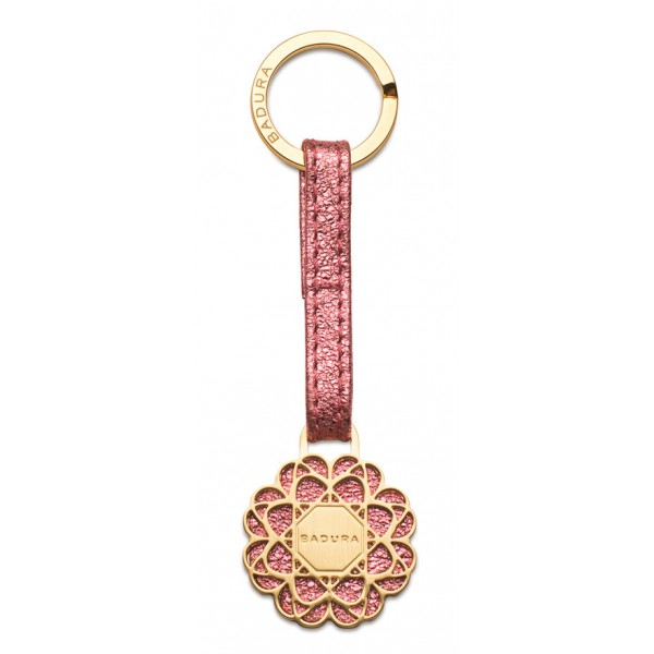 Aleksandra Badura - Small Leather Goods - Keyring in Calfskin - Pink - Luxury High Quality