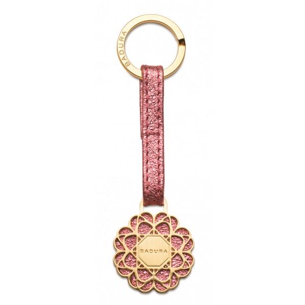 Aleksandra Badura - Small Leather Goods - Keyring in Vitello - Rosa - Pelle di Alta Qualità Luxury