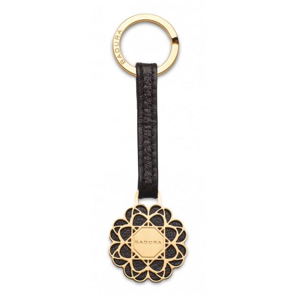 Aleksandra Badura - Small Leather Goods - Keyring in Vitello - Nero - Pelle di Alta Qualità Luxury