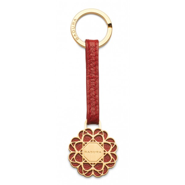 Aleksandra Badura - Small Leather Goods - Keyring in Calfskin - Red - Luxury High Quality