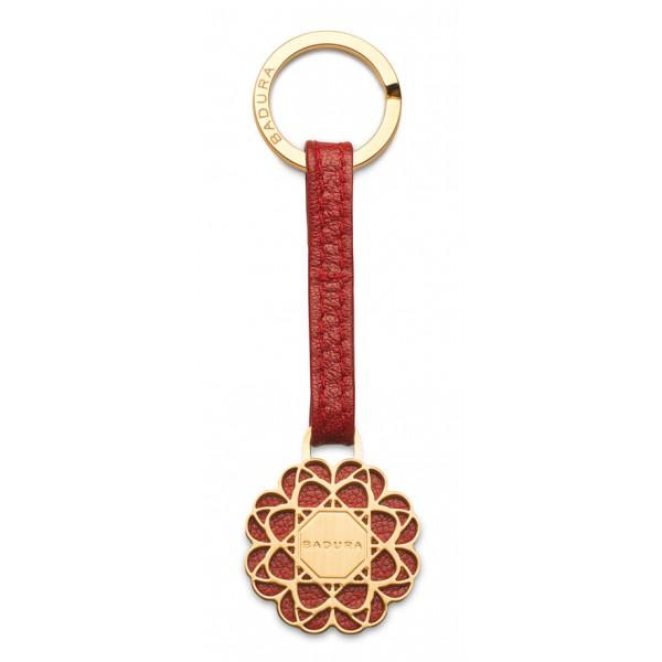 Aleksandra Badura - Small Leather Goods - Keyring in Vitello - Rosso - Pelle di Alta Qualità Luxury
