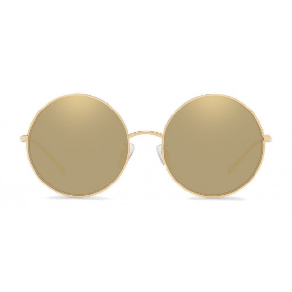 Dolce & Gabbana - Gold Plated Round Sunglasses - Gold Plated - Dolce & Gabbana Eyewear