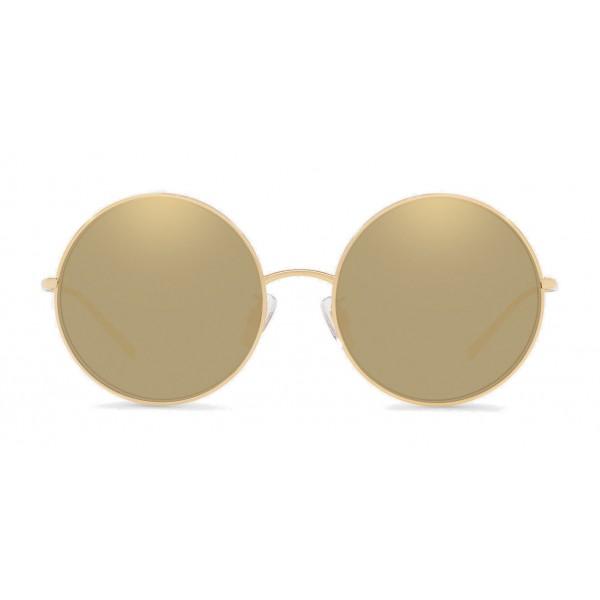 Dolce & Gabbana - Occhiali da Sole Rotondi Gold Plated - Oro Placcato - Dolce & Gabbana Eyewear