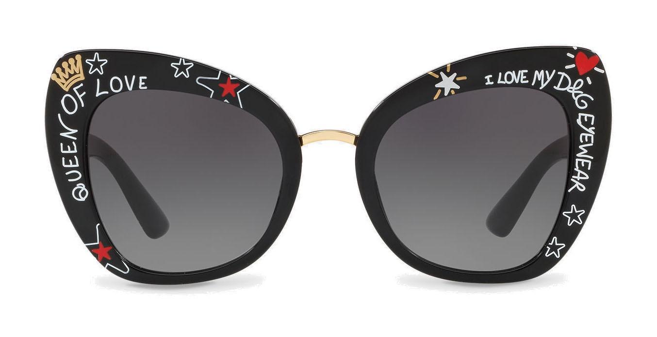 a257b8b4ebf96 Dolce   Gabbana - Butterfly Sunglasses in Acetate Print Graffiti - Dolce   Gabbana  Eyewear - Avvenice