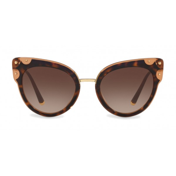 271dc8327452 Dolce & Gabbana - Cat-Eye Sunglasses in Acetate with Metallic Details -  Havana and Brown - Dolce & Gabbana Eyewear - Avvenice