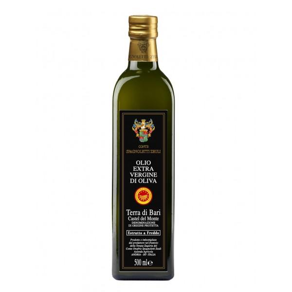 Conte Spagnoletti Zeuli - Olio Extravergine di Oliva D.O.P. - 500 ml - Terra di Bari - Castel del Monte