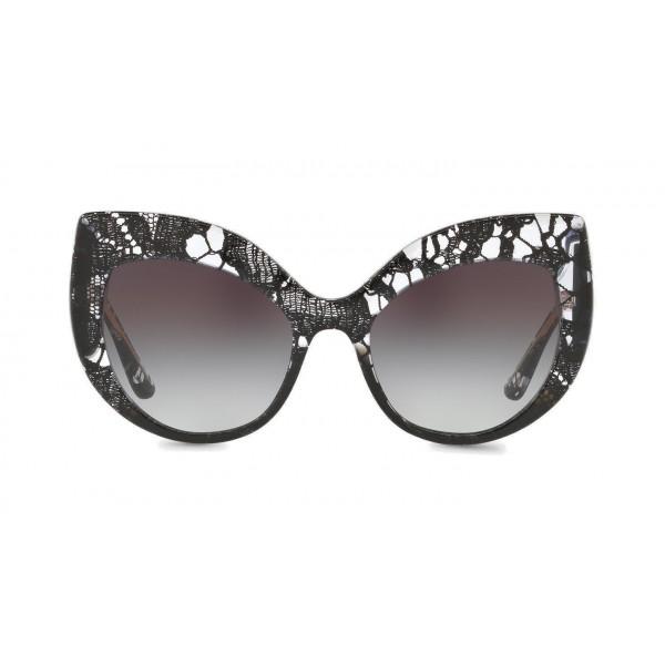 a68b87fa80 Dolce   Gabbana - Cat-Eye Sunglasses in Acetate Lace - Gradient Black Lace -