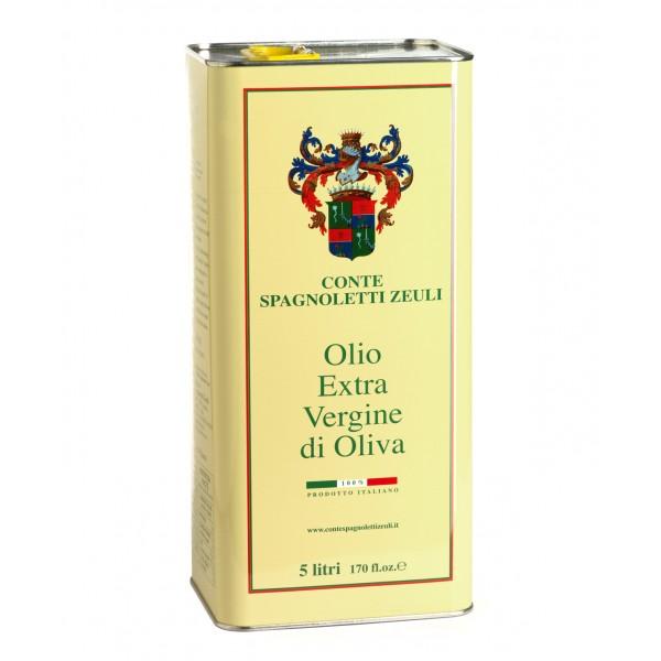 Conte Spagnoletti Zeuli - Olio Extravergine di Oliva D.O.P. - 5 l - Fruttato Intenso