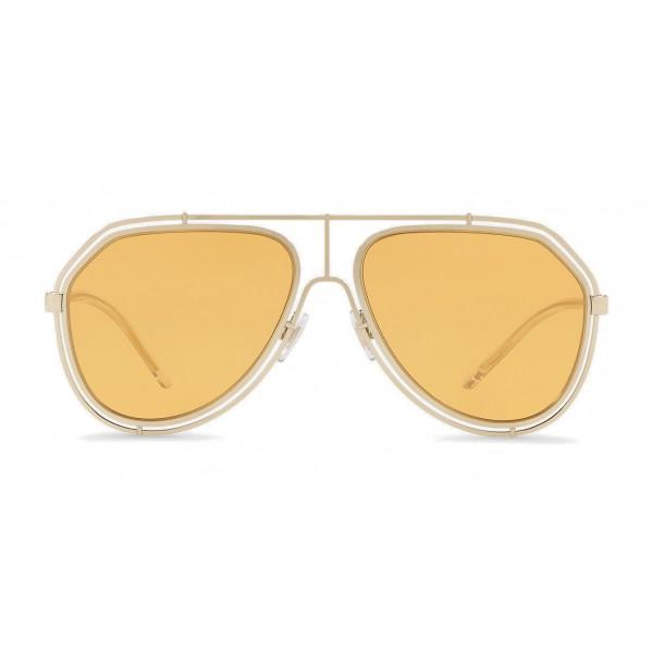 21de4053a10d Dolce   Gabbana - Pilot Sunglasses with Metallic Profile - Light Shiny Gold  - Dolce   Gabbana Eyewear - Avvenice