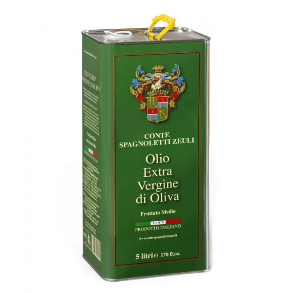 Conte Spagnoletti Zeuli - Olio Extravergine di Oliva D.O.P. - 5 l - Fruttato Medio