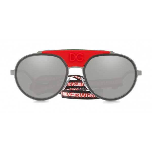 2b528bf3c7aa Dolce & Gabbana - Sunglasses in Metal with Fabric Band - Red - Dolce & Gabbana  Eyewear - Avvenice