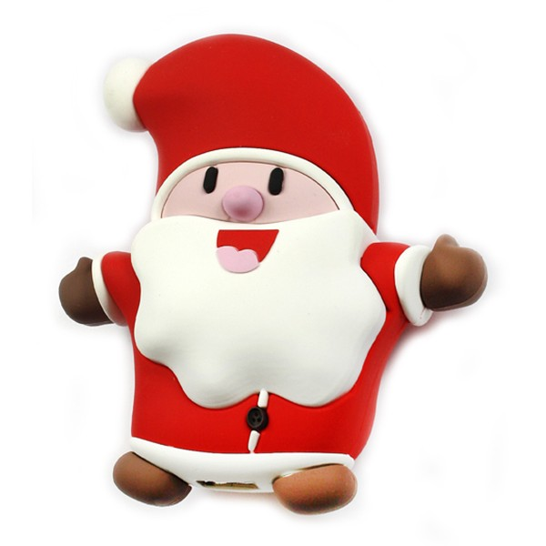 Moji Power - Santa - High Capacity Portable Power Bank Emoji Icon USB Charger - Portable Batteries - 2600 mAh