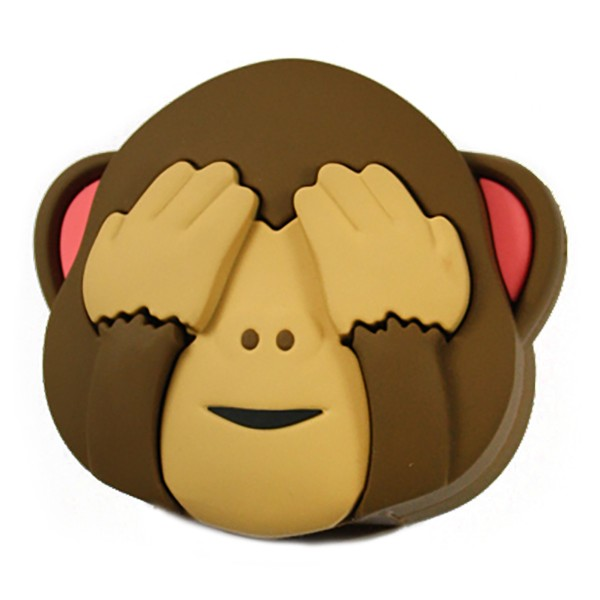 Moji Power - Scimmia - Monkey Two - Carica Batteria Portatile Alta Capacità Emoji USB - Batterie Portatili - 2600 mAh
