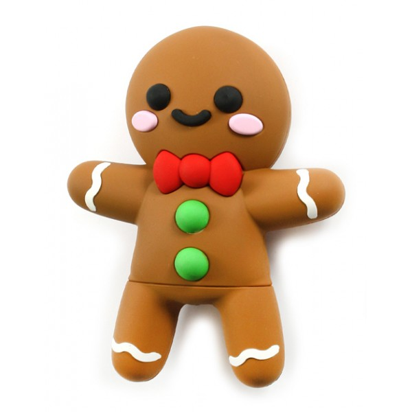 Moji Power - Gingerbread - High Capacity Portable Power Bank Emoji Icon USB Charger - Portable Batteries - 2600 mAh