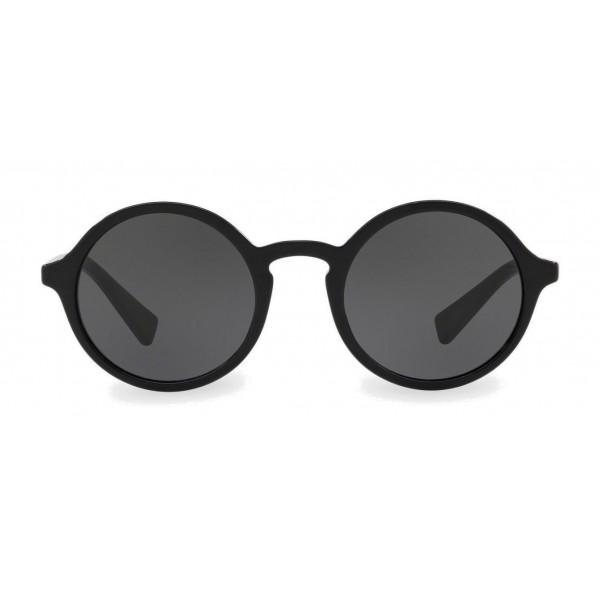 43b9476d01 Dolce & Gabbana - Round Acetate Sunglasses with Key Bridge - Black - Dolce  & Gabbana Eyewear