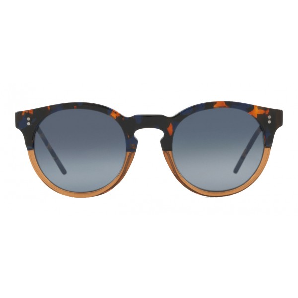 162d472a22e Dolce   Gabbana - Panthos Sunglasses with Keyhole Bridge - Blue Havana and  Brown - Dolce   Gabbana Eyewear - Avvenice