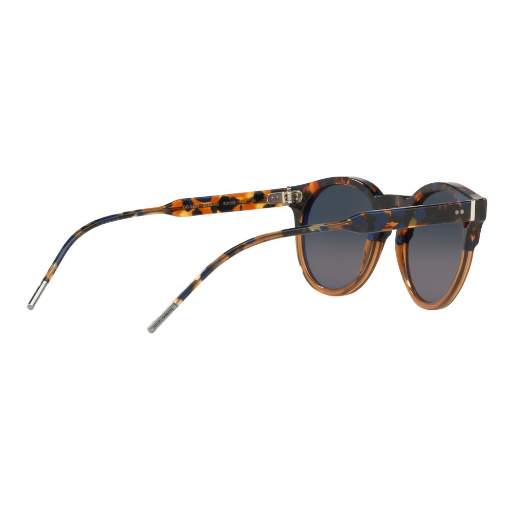 1c4a9c576eb ... Dolce   Gabbana - Panthos Sunglasses with Keyhole Bridge - Blue Havana  and Brown - Dolce ...