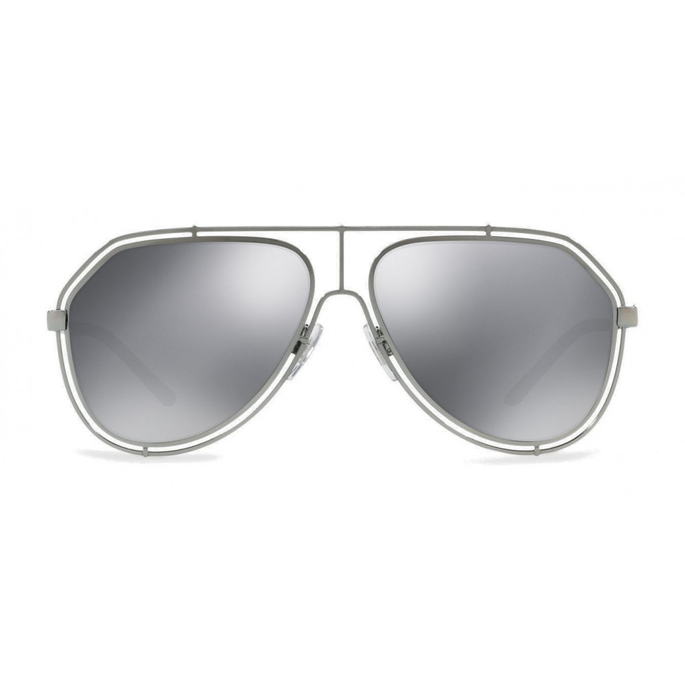 73548c032758 Dolce   Gabbana - Pilot Sunglasses with Metallic Profile - Shiny Grey Gun -  Dolce   Gabbana Eyewear - Avvenice