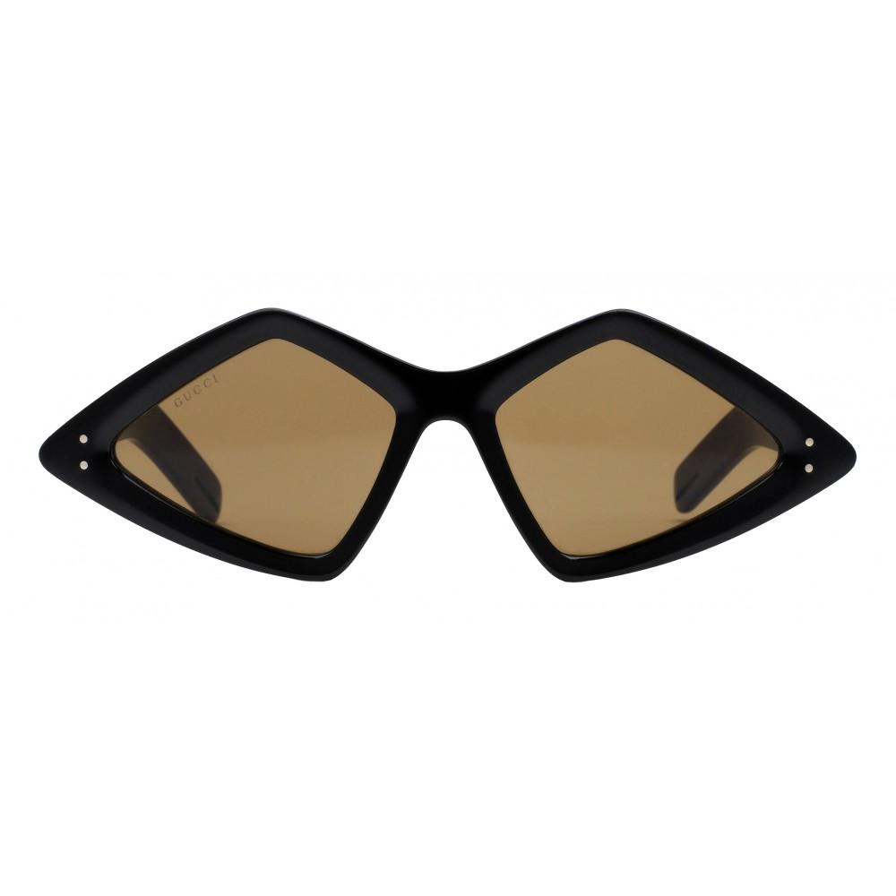 13bdc8f3e8 Gucci - Sunglasses with Diamond Frame - Glossy Black - Gucci Eyewear -  Avvenice