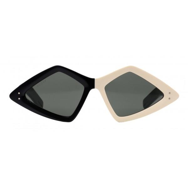 Gucci - Occhiale da Sole con Montatura a Diamante - Bicolore - Gucci Eyewear