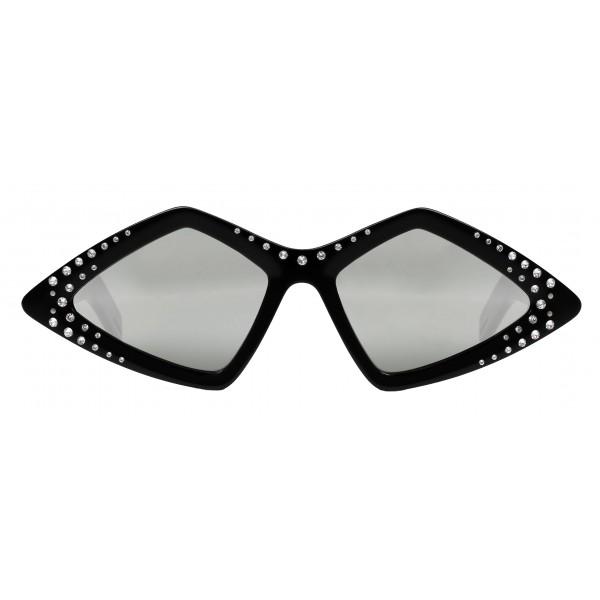 Gucci - Occhiale da Sole con Montatura a Diamante e Cristalli Swarovski - Bicolore - Gucci Eyewear