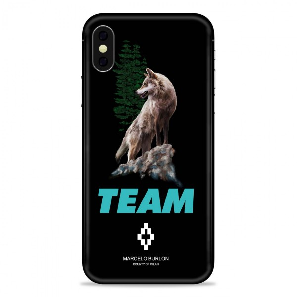 Marcelo Burlon - Cover Team Wolf - iPhone X - Apple - County of Milan - Cover Stampata